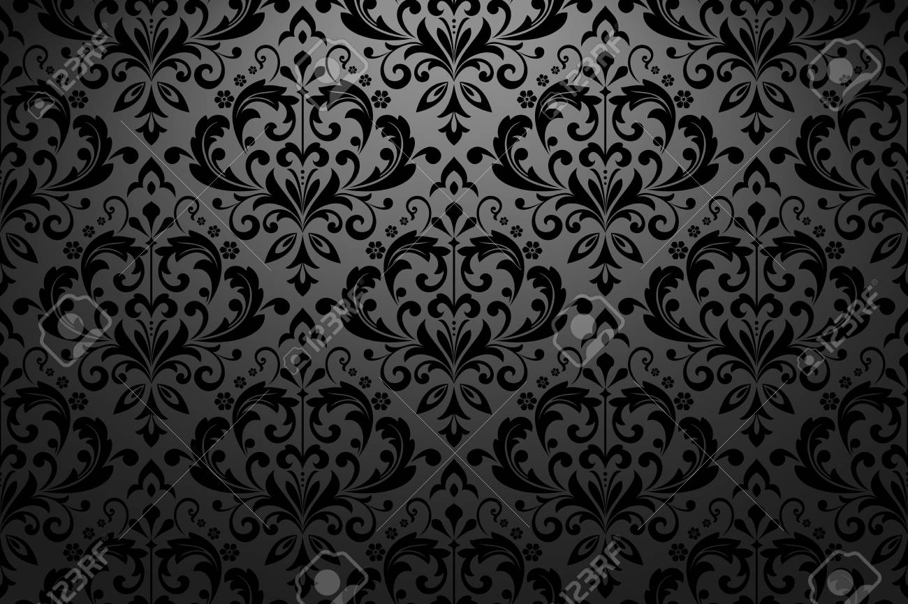 Wallpaper In The Style Of Baroque Seamless Vector Background