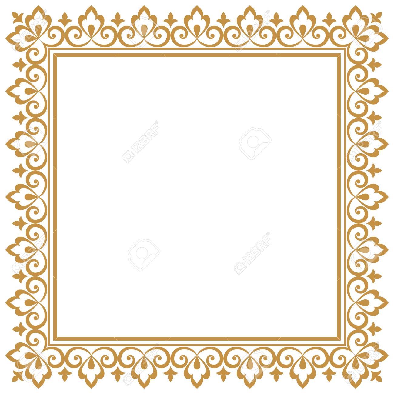 Decorative frame Elegant vector element for design in Eastern