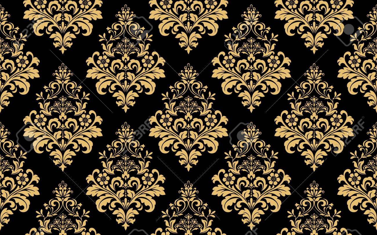 Floral Pattern Vintage Wallpaper In The Baroque Style Seamless Stock Photo Picture And Royalty Free Image Image 129276332