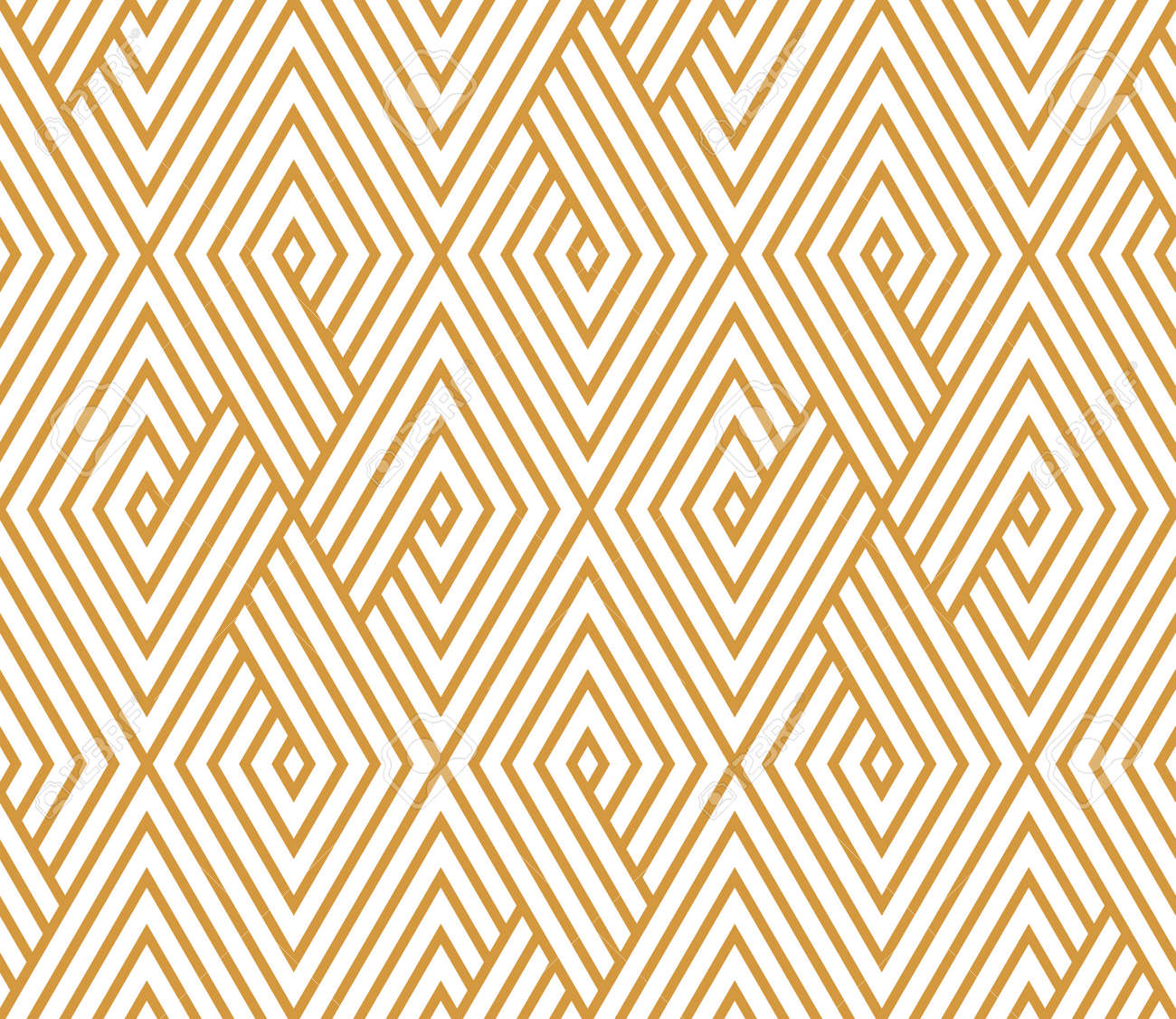 Abstract geometric pattern with stripes, lines. Seamless vector background. White and gold ornament. Simple lattice graphic design - 167831947