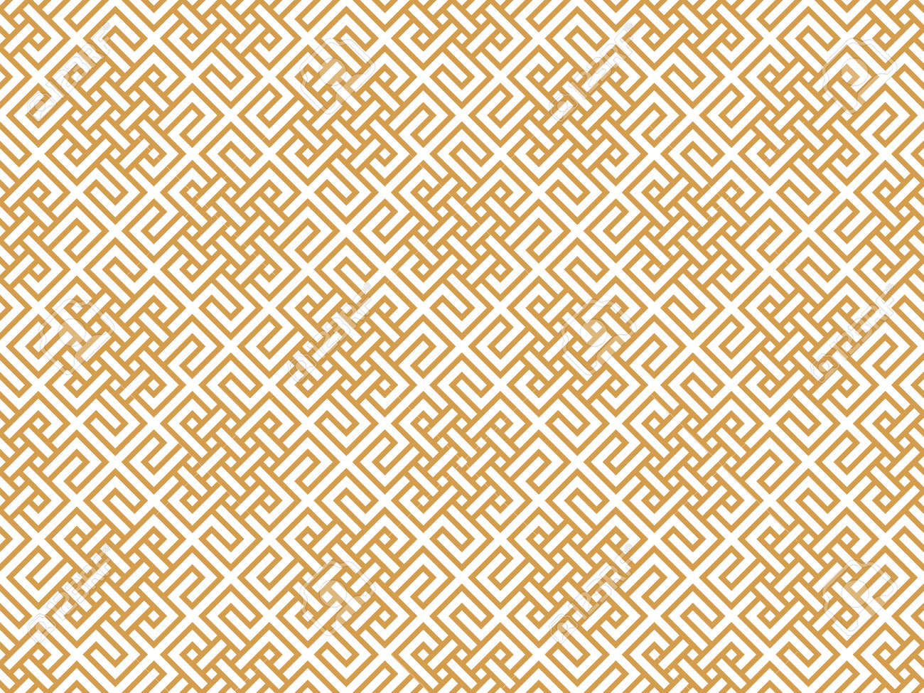 The geometric pattern with lines. Seamless vector background. White and gold texture. Graphic modern pattern. Simple lattice graphic design - 169878892