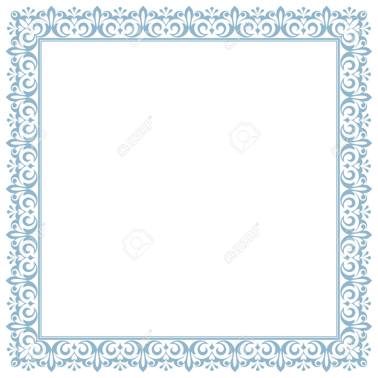 Decorative frame Elegant vector element for design in Eastern style, place for text. Floral golden and black border. Lace illustration for invitations and greeting cards - 169842865