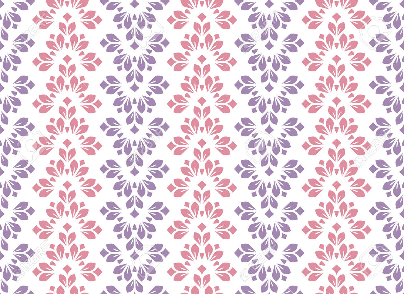 Flower geometric pattern. Seamless vector background. Colored ornament - 169842924