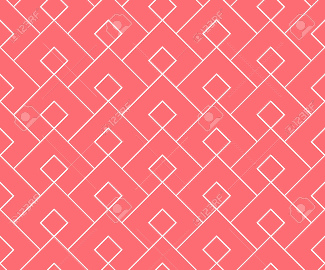 Abstract geometric pattern. A seamless vector background. White and pink ornament. Graphic modern pattern. Simple lattice graphic design - 169842938
