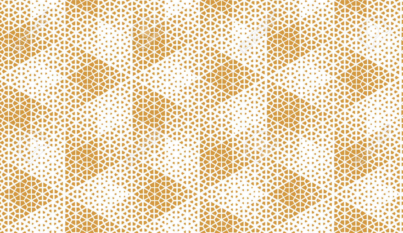 Abstract geometric pattern. A seamless vector background. White and gold ornament. Graphic modern pattern. Simple lattice graphic design - 169878906