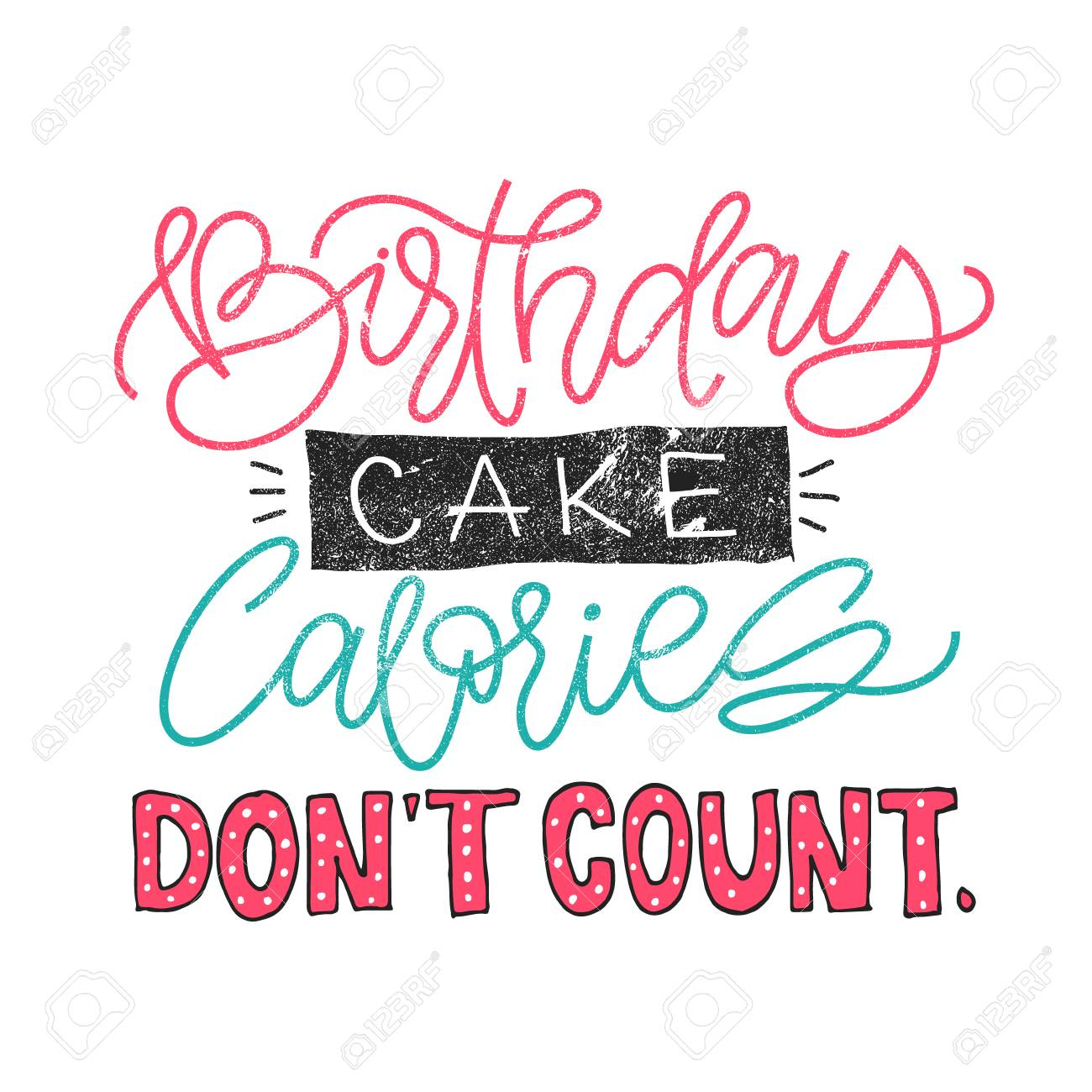 Stupendous Birthday Cake Calories Dont Count Funny Quote About Weight Birthday Cards Printable Benkemecafe Filternl