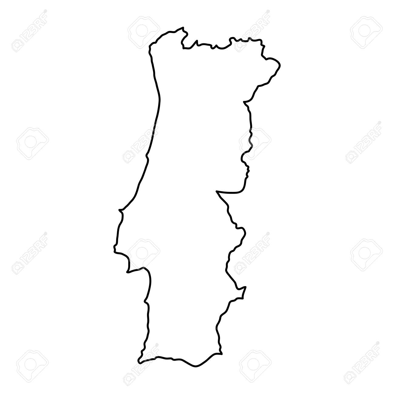 portugal mapa vector Portugal Map Icon. Royalty Free Cliparts, Vectors, And Stock  portugal mapa vector