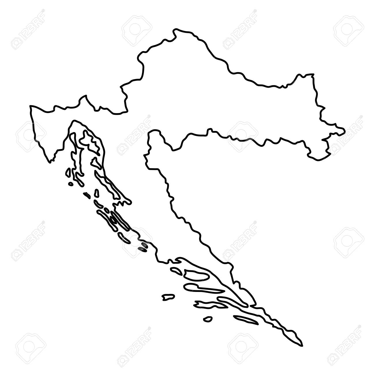 Croatia Map Shape Money Clip