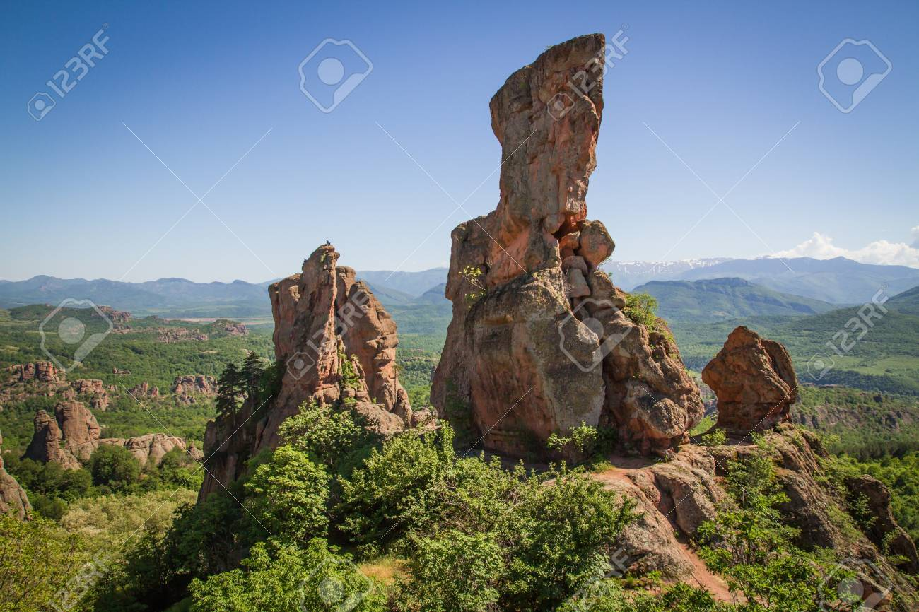 The main entrance to the famous Belogradchik fortress in Bulgaria - 20882612