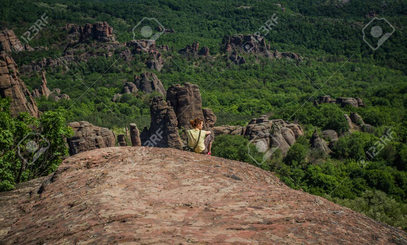 The main entrance to the famous Belogradchik fortress in Bulgaria. - 21049727