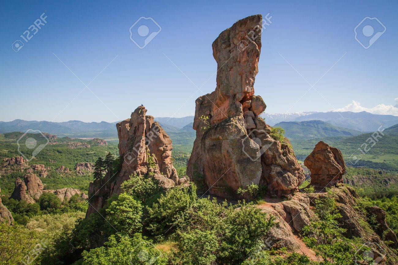 The main entrance to the famous Belogradchik fortress in Bulgaria. - 21049747