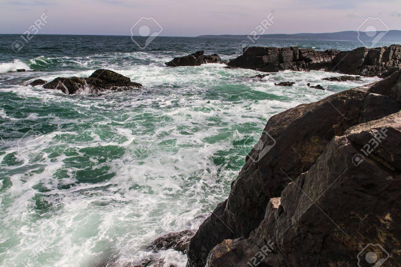ocean, meadows and cliffs Horizontal shot - 21050088