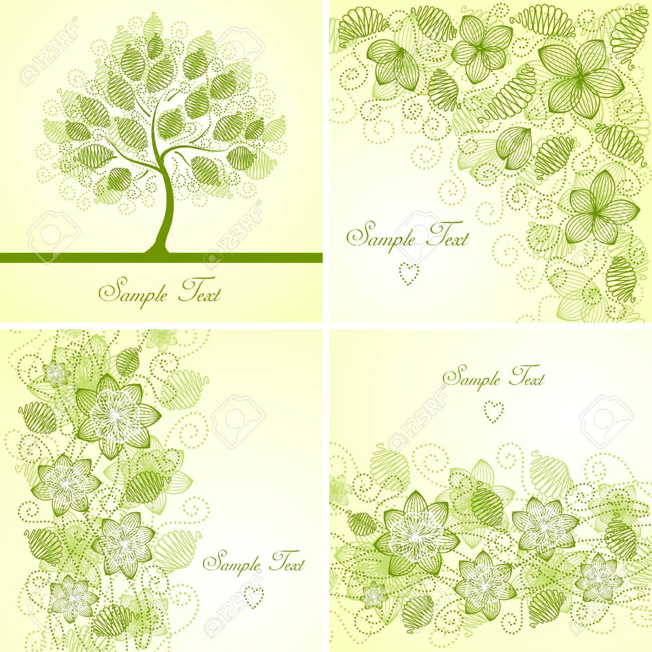 Set of vintage floral backgrounds Stock Vector - 11126025