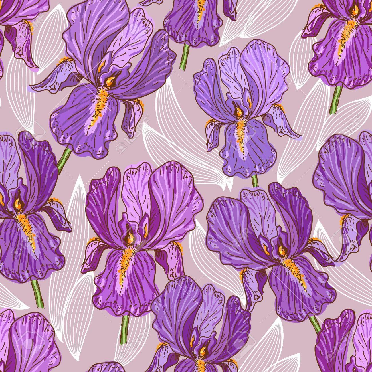 Purple Iris Stock Vector - 12798765