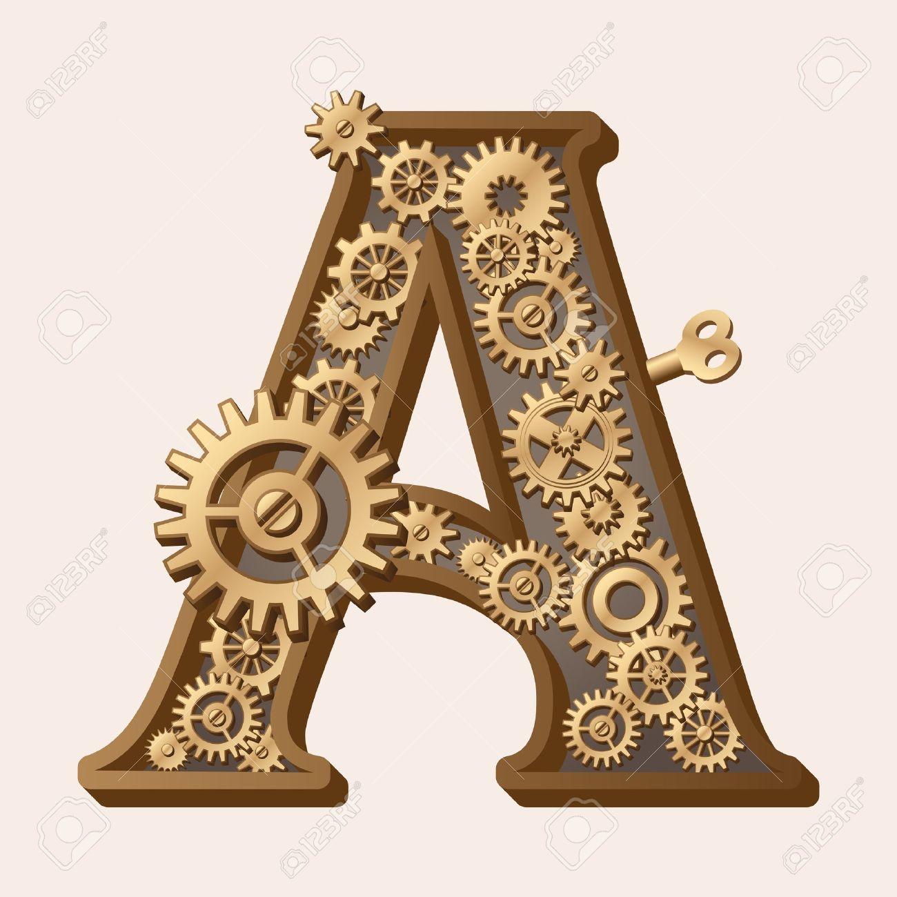 Mechanical alphabet Stock Vector - 13806382