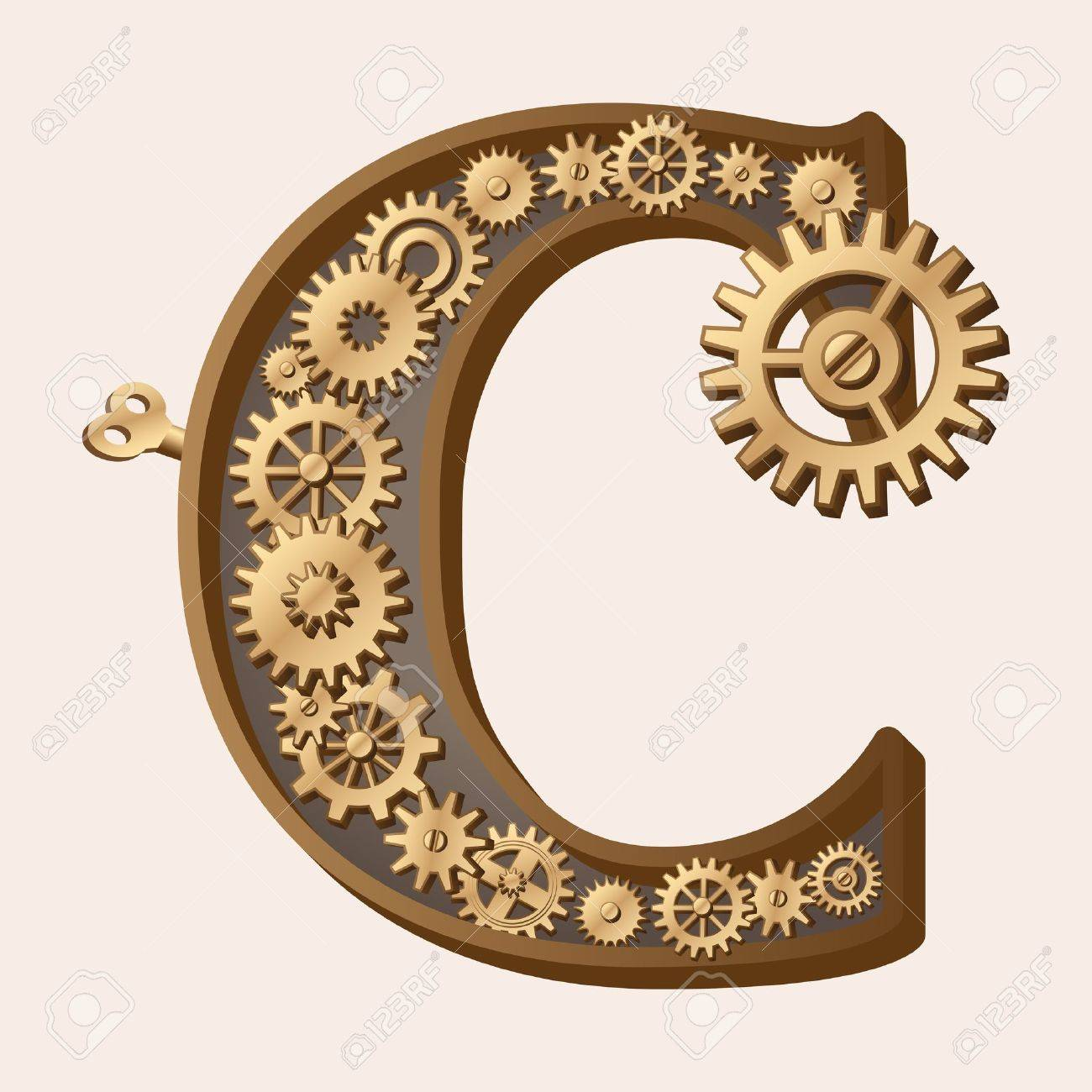 Mechanical alphabet Stock Vector - 13806363