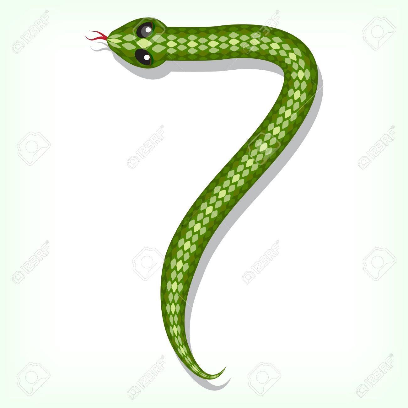S Snake Font Snake font Digit 7  snake