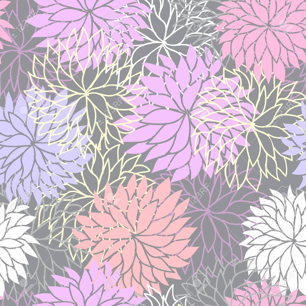 Seamless floral pattern Stock Vector - 17756505