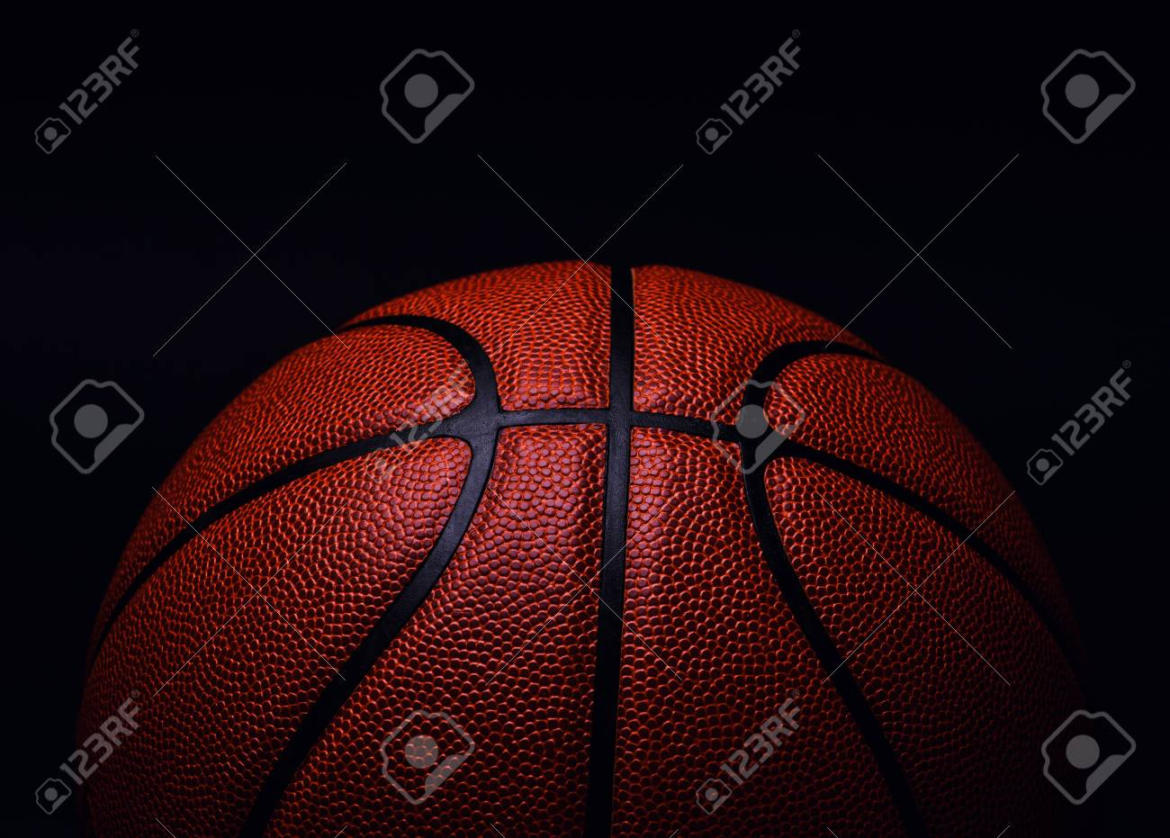 basketball ball on black background. - 121161540