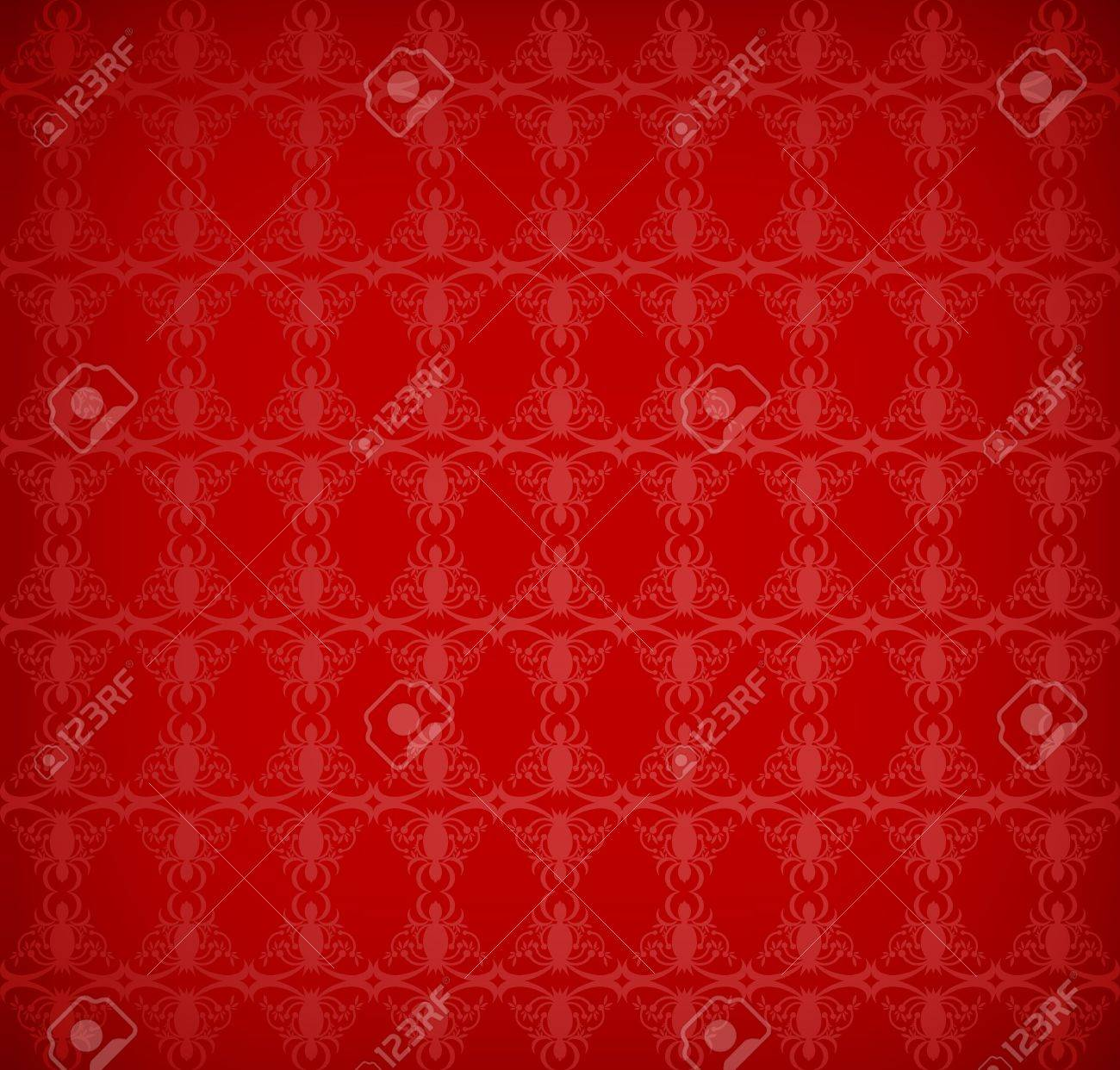 red wallpaper with a pattern - seamless texture Stock Vector - 10055776