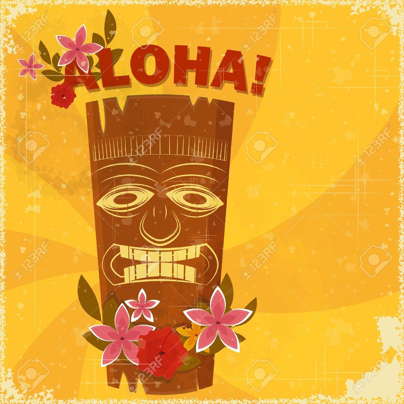 Vintage hawaiian postcard invitation to beach party vector vintage hawaiian postcard invitation to beach party vector illustration stock vector 13331202 stopboris Gallery