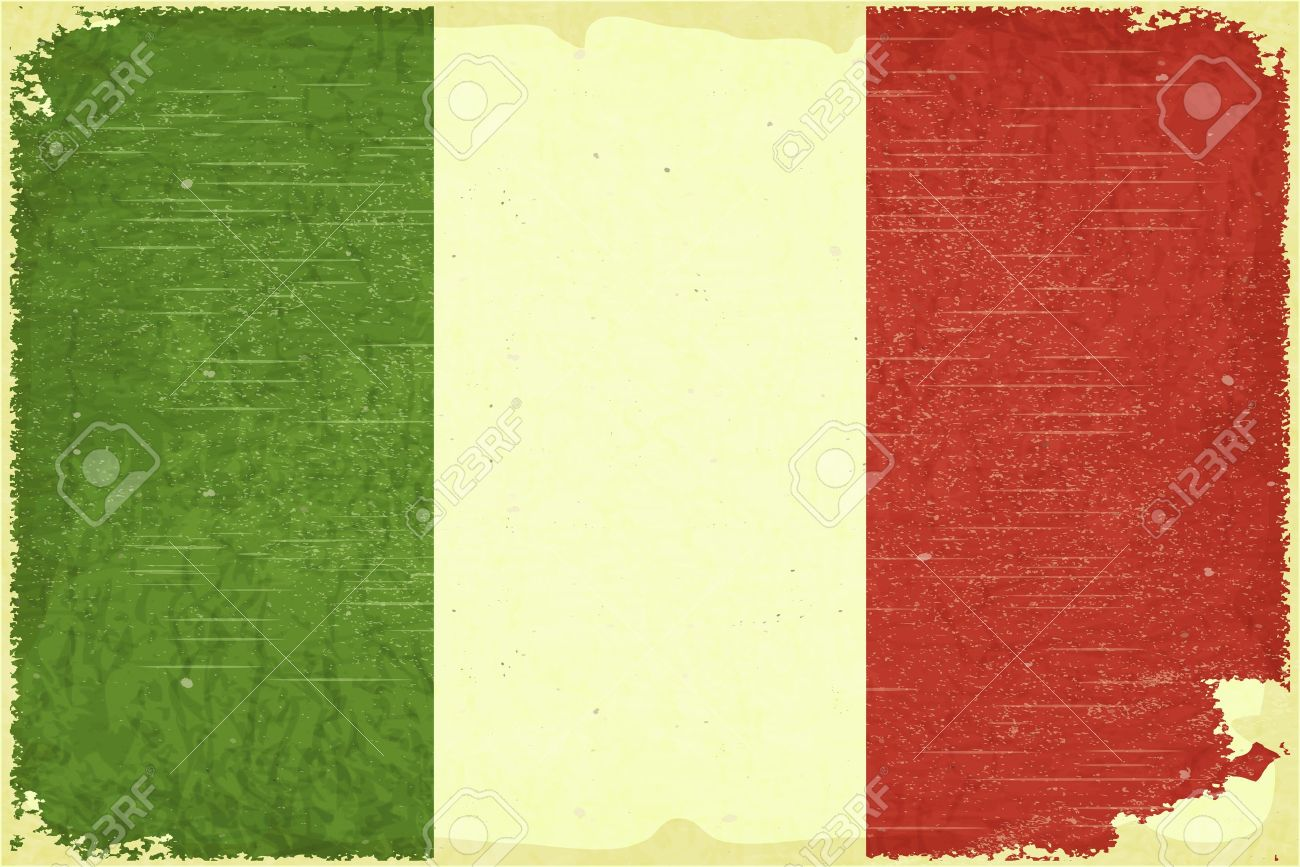 Grunge poster - Italian flag in Retro style Stock Vector - 15828012