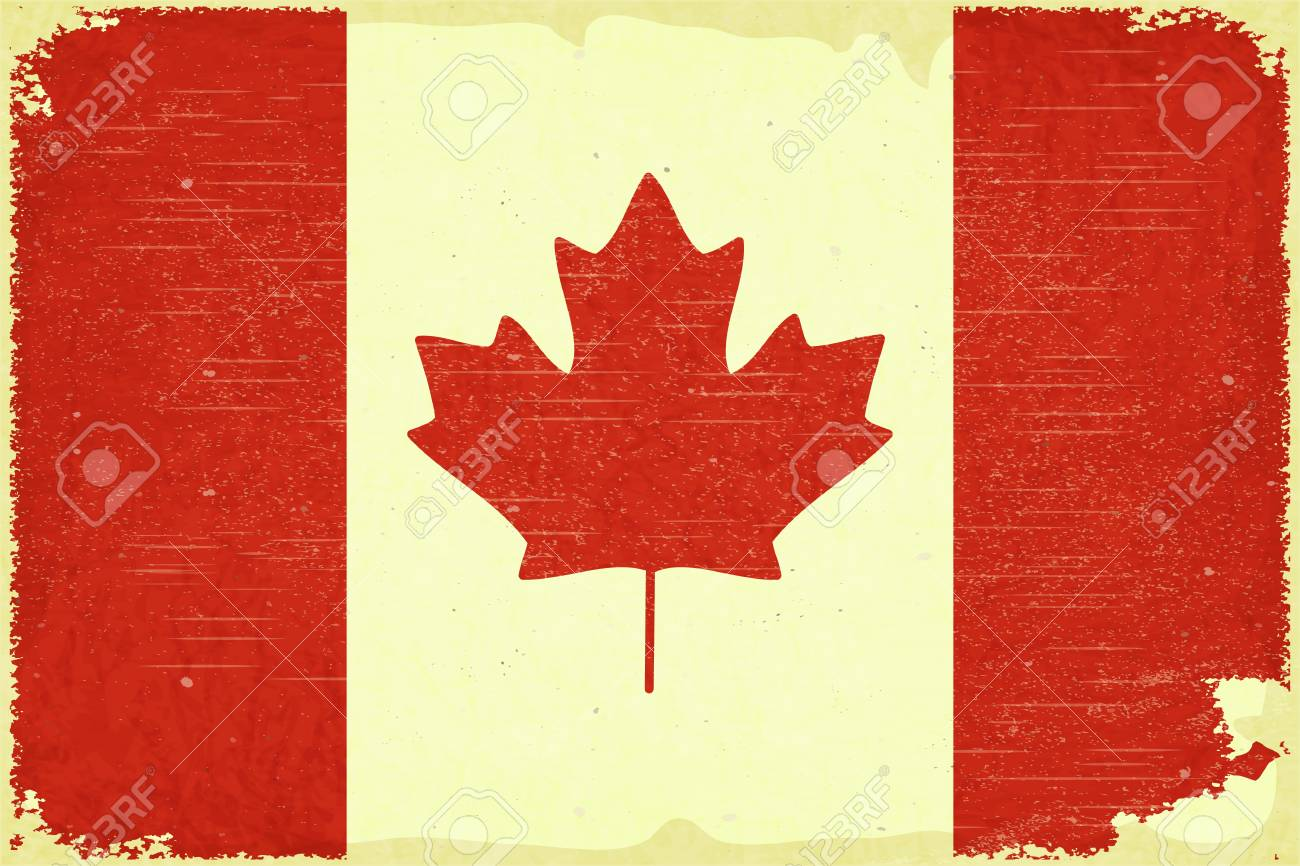Grunge poster - Canadian flag in Retro style - Vector illustration Stock Vector - 15966898