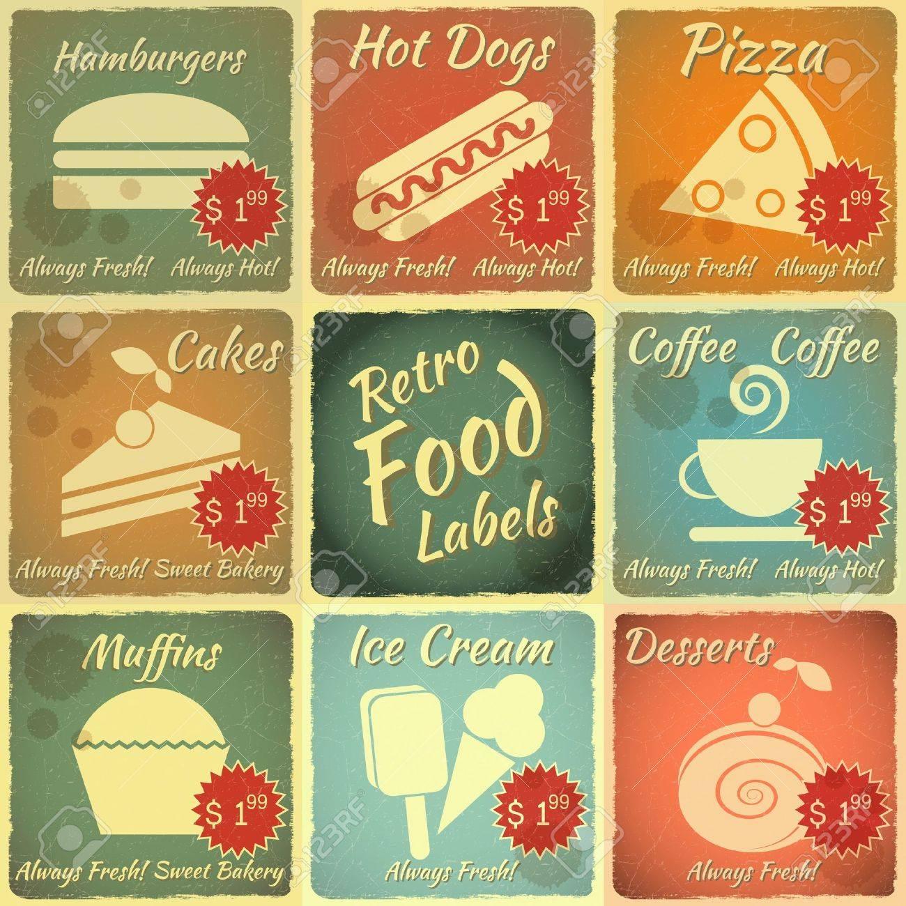 vintage food labels