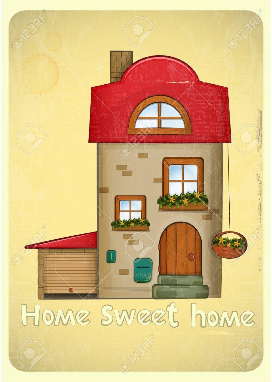 Дом открытка