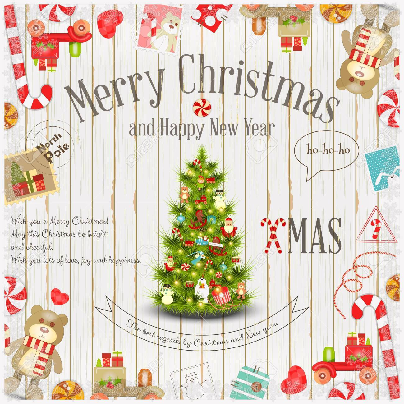 Bonito Navidad Tarjetas Marcos Ilustración - Ideas de Arte Enmarcado ...
