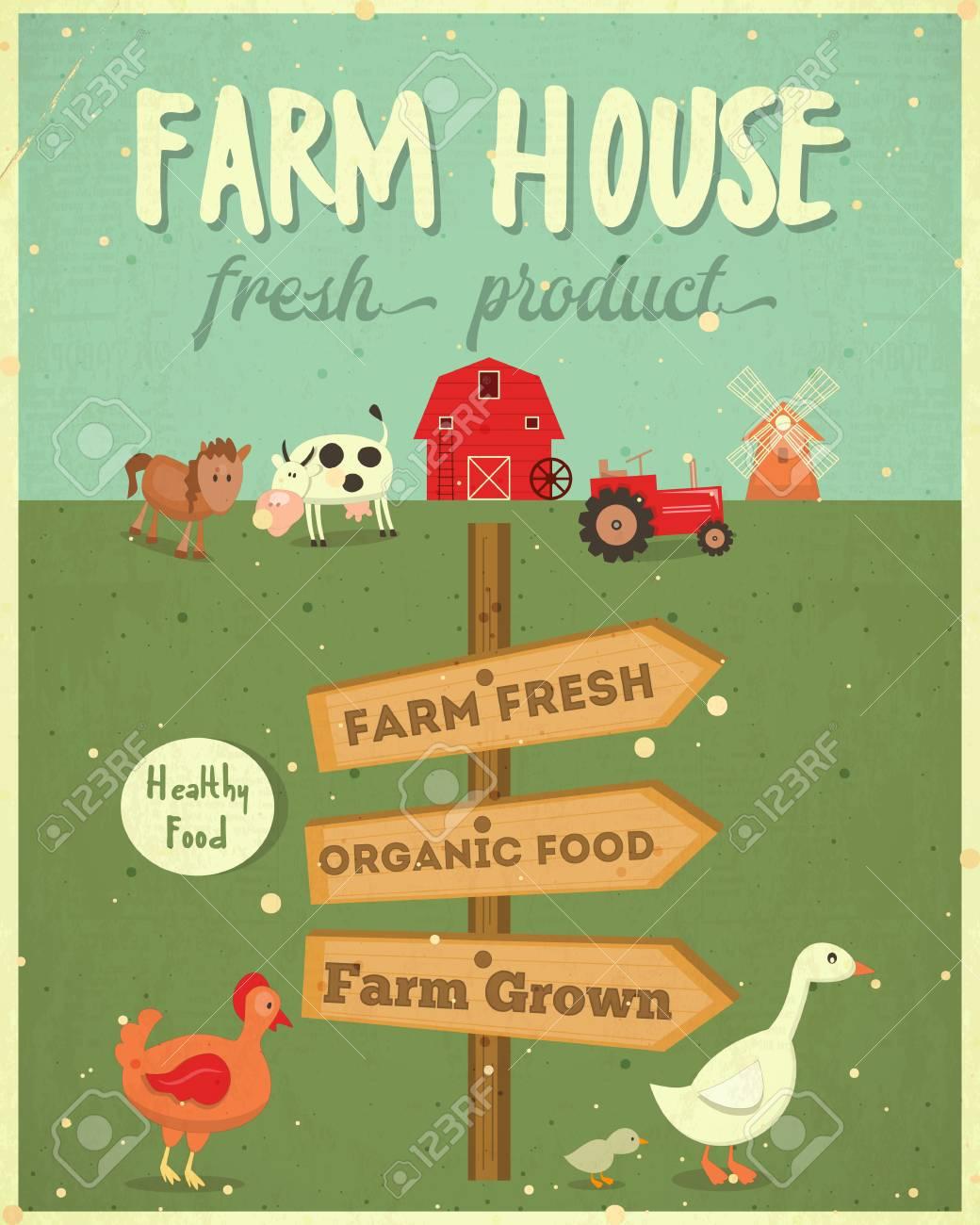 Vintage Farmers Market Poster
