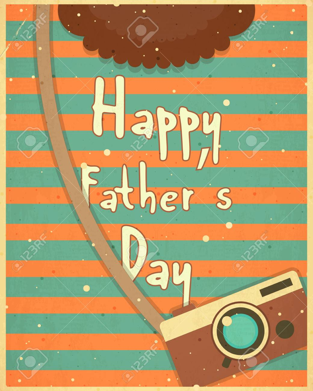 Fathers day greeting card flat design retro style man hipster fathers day greeting card flat design retro style man hipster clothing vector m4hsunfo