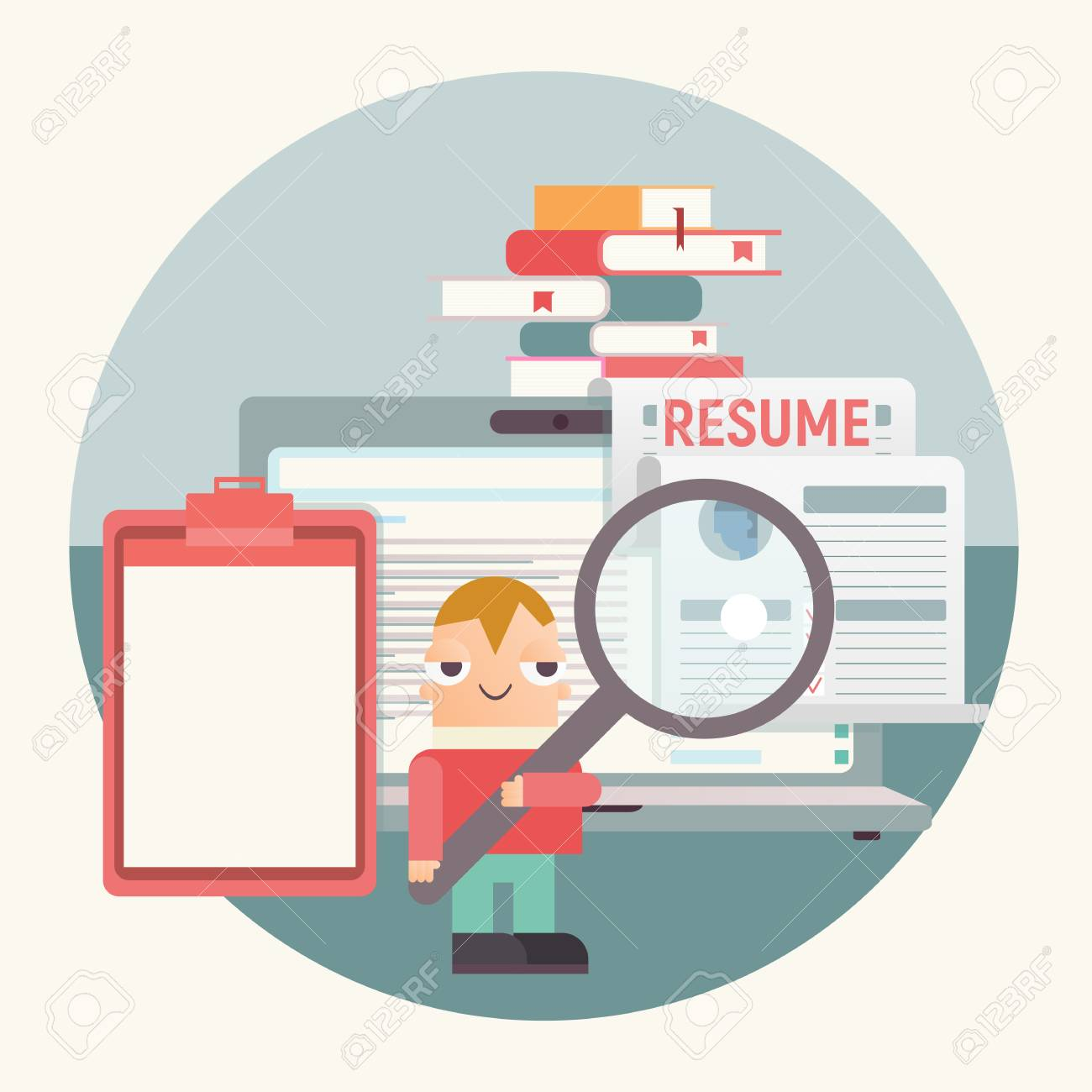 Hiring Job Interview And Recruitment Concept Cartoon Hr Manager Royalty Free Cliparts Vectors And Stock Illustration Image 123111674