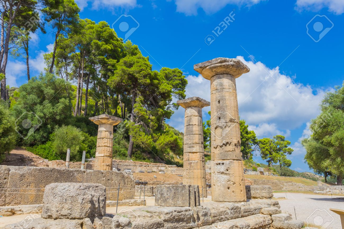 ruins in Ancient Olympia, Elis, Greece - 33449708