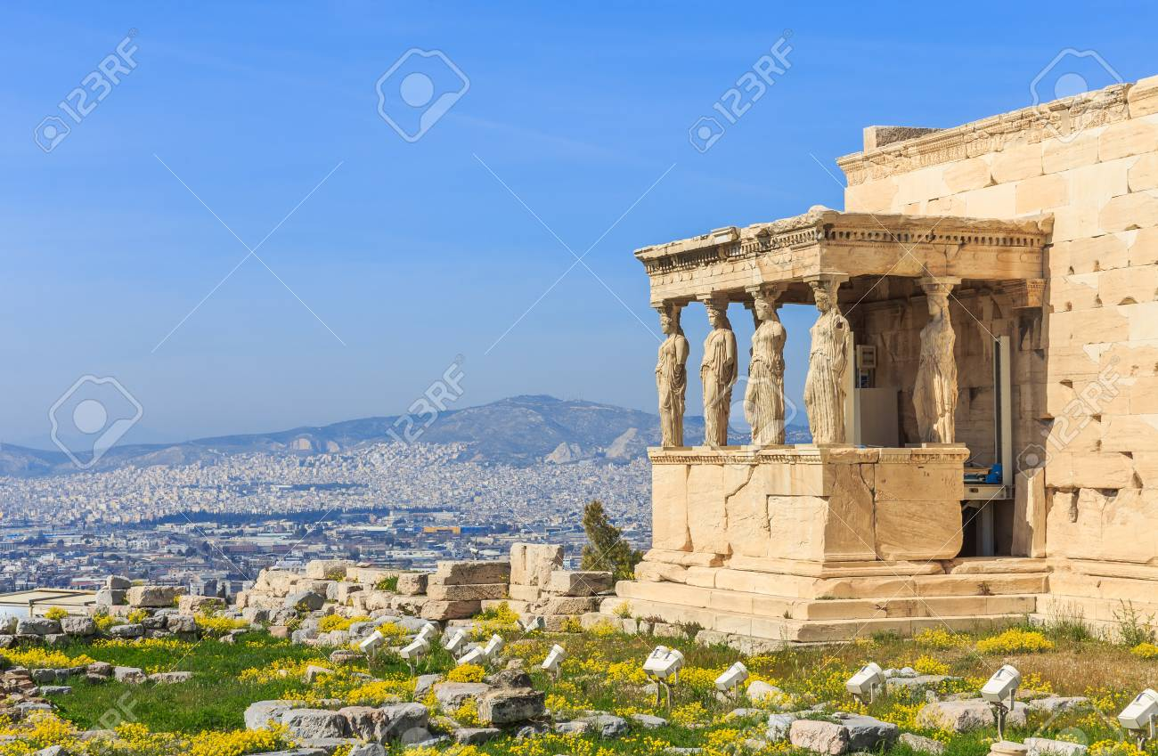 ruins of ancient temple on Acropolis hill - 74049554