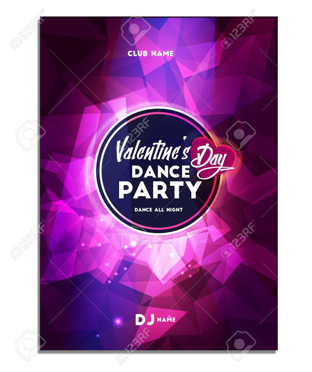 Happy Valentine S Day Dance Party Poster Flyer Royalty Free