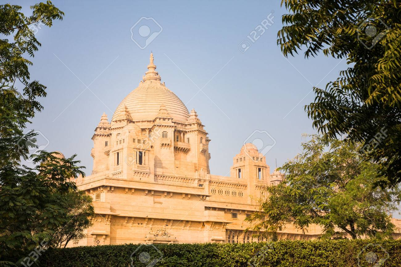 jodhpur india 2015 january 2 the dome of the yellow golden umaid - Yellow Hotel 2015