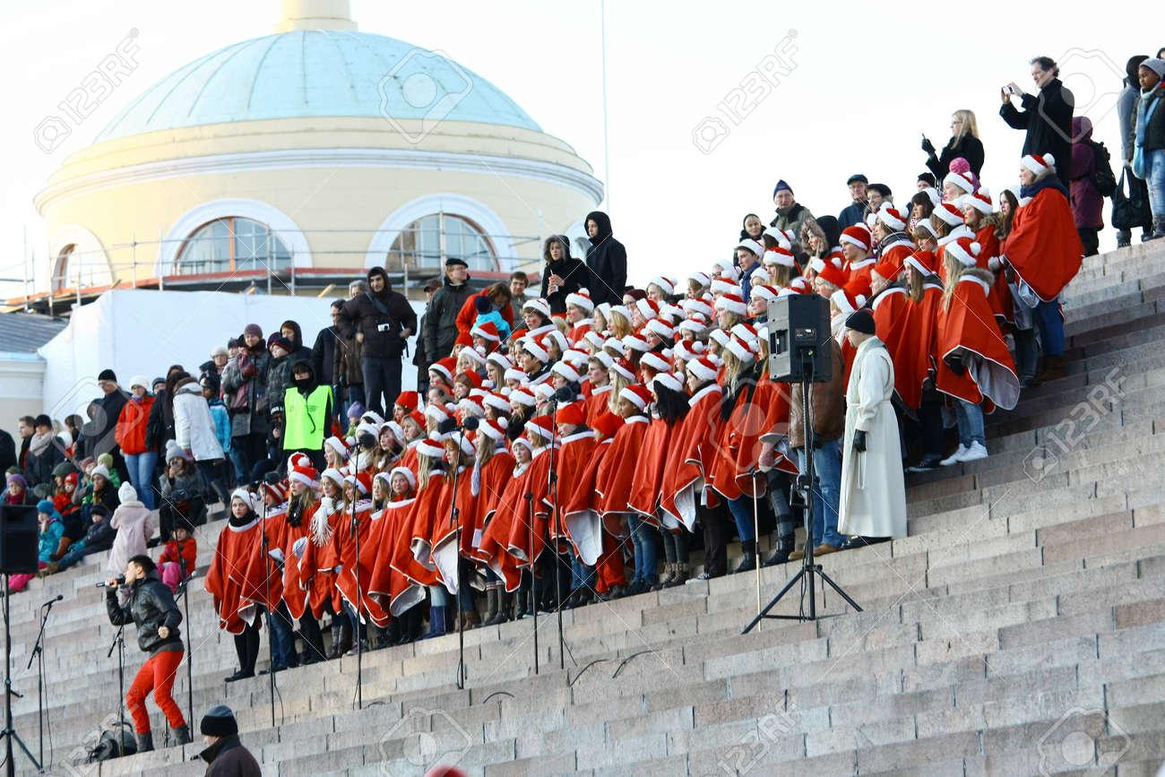 HELSINKI, FINLAND - NOVEMBER 20: Traditional Christmas Street opening in Helsinki on November 20, 2011. Stock Photo - 11249975