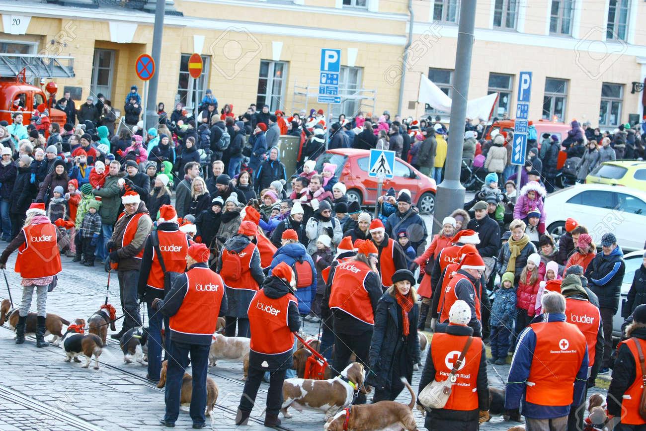 HELSINKI, FINLAND - NOVEMBER 20: Traditional Christmas Street opening in Helsinki on November 20, 2011. Stock Photo - 11260241