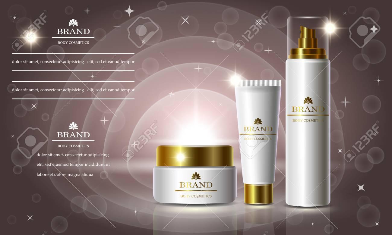 Cosmetics Beauty Series, Ads Of Premium Body Cream For Skin Care ...