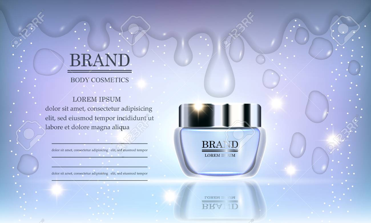Cosmetics Beauty Series Premium Body Cream For Skin Care On Royalty Free Cliparts Vectors And Stock Illustration Image 95568971