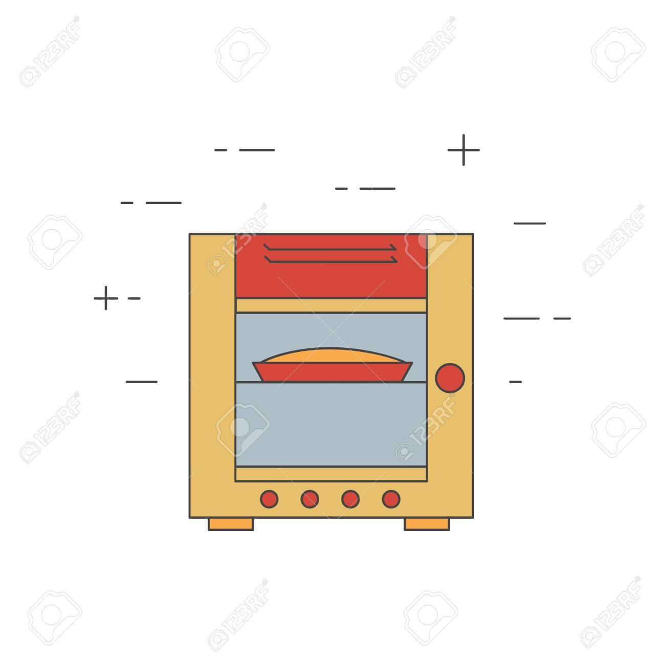 icône de la ligne de vapeur du four combiné. restaurant, équipement