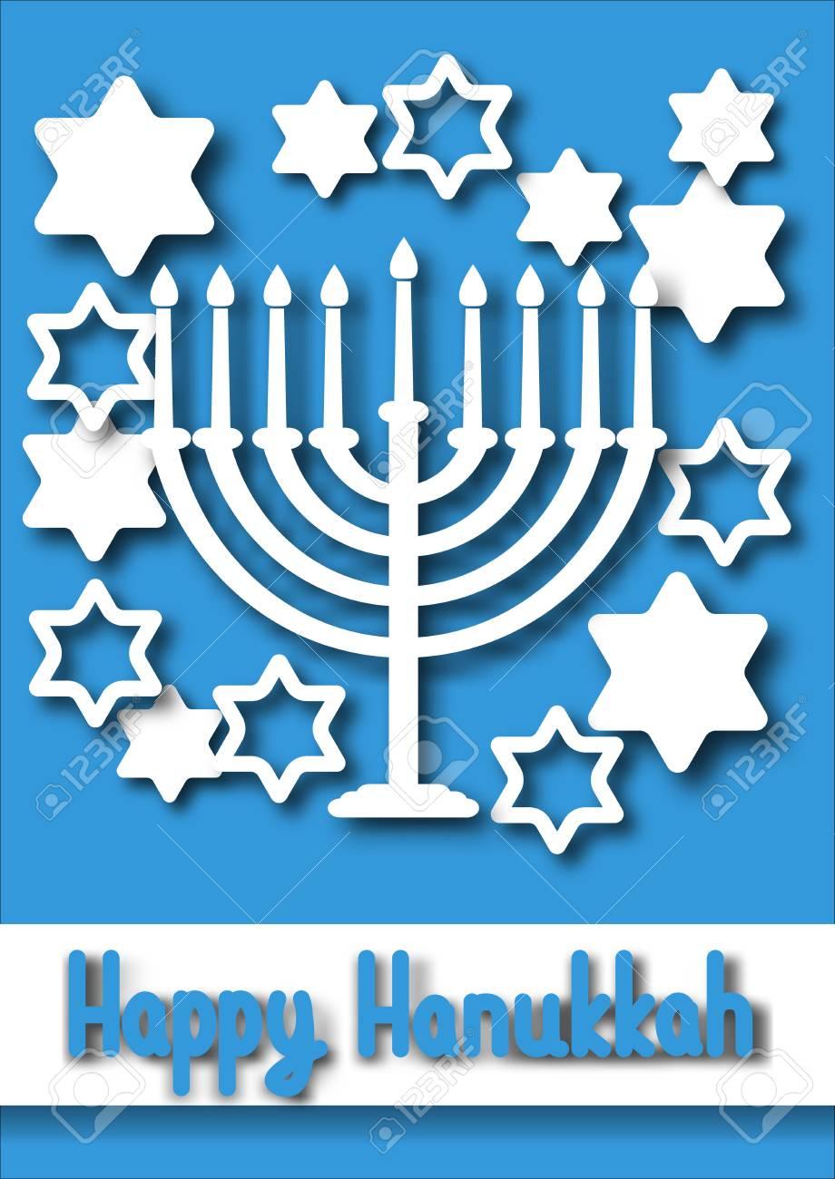 Hanukkah greeting card hanukkah menorah candles design vector hanukkah greeting card hanukkah menorah candles design vector template for jewish holiday hanukkah stok m4hsunfo