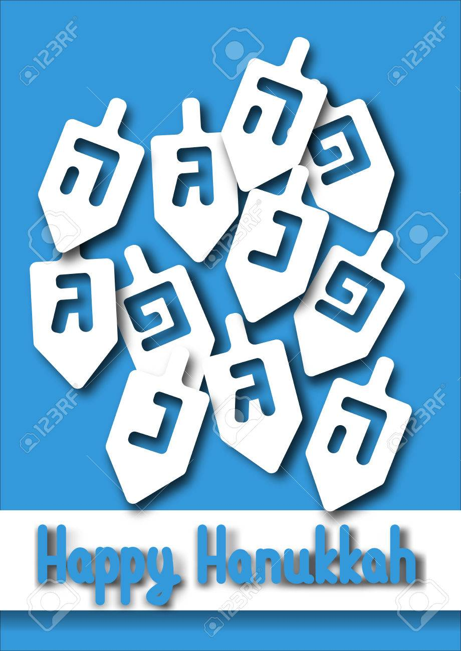 Hanukkah greeting card hanukkah dreidels with hebrew letters hanukkah greeting card hanukkah dreidels with hebrew letters design vector template for jewish holiday m4hsunfo Image collections