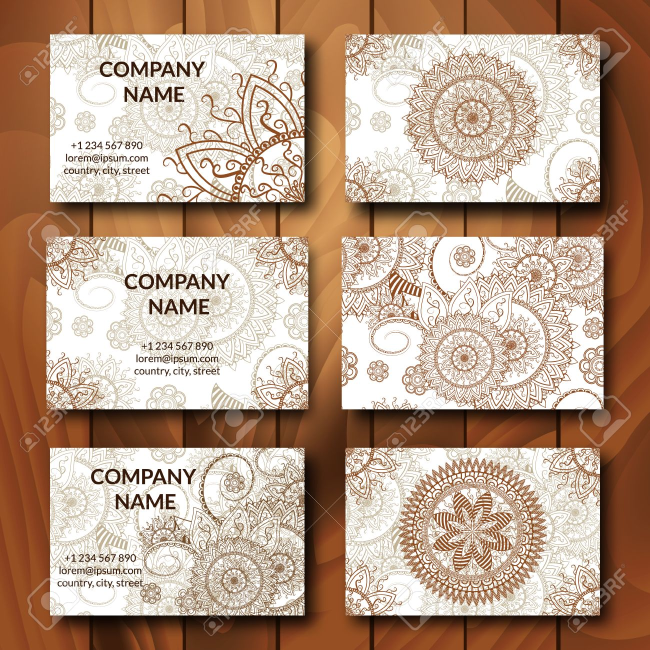 Vintage business cards set ornamental mandala indian arabic vintage business cards set ornamental mandala indian arabic ornaments mehndi henna tattoo magicingreecefo Gallery