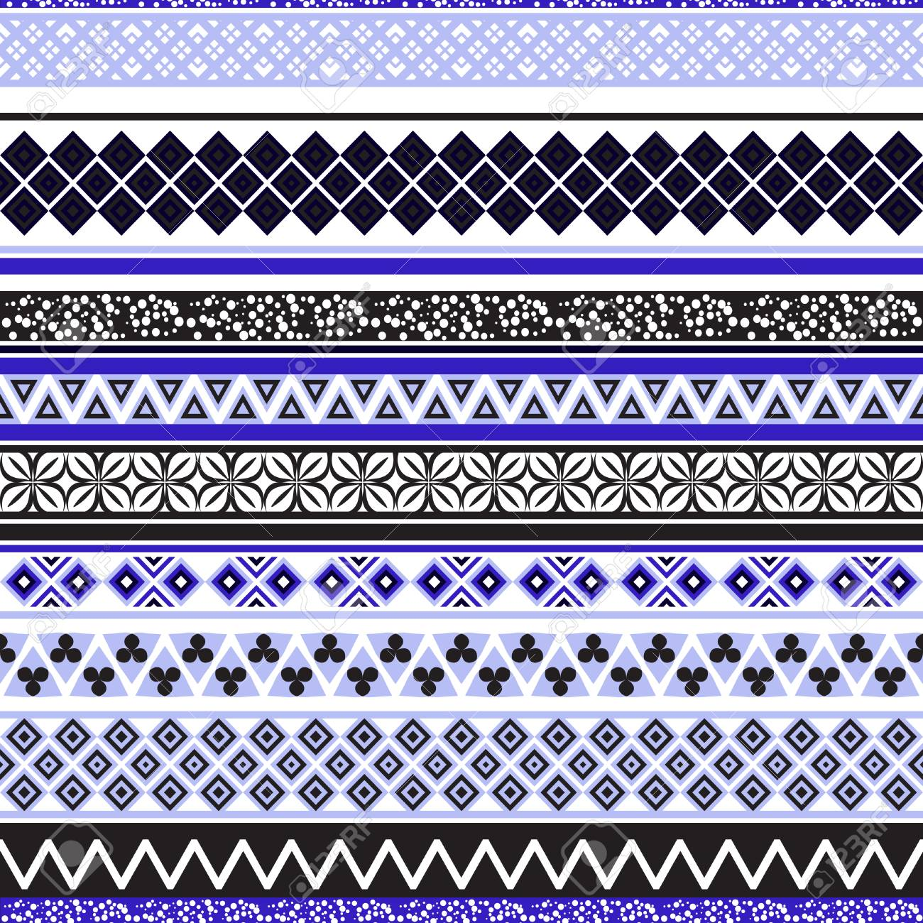 Tribal seamless pattern. Abstract background with ethnic ornament. Seamless background with different geometric shapes. Vector illustration - 62982579