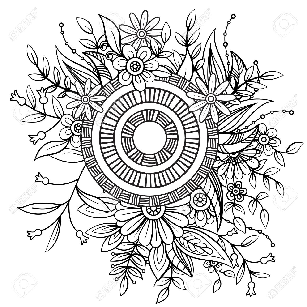 Art therapy | Mandala coloring, Simple mandala, Mandala coloring pages | 1300x1300