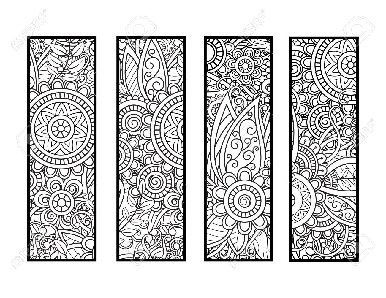 Coloring bookmarks set