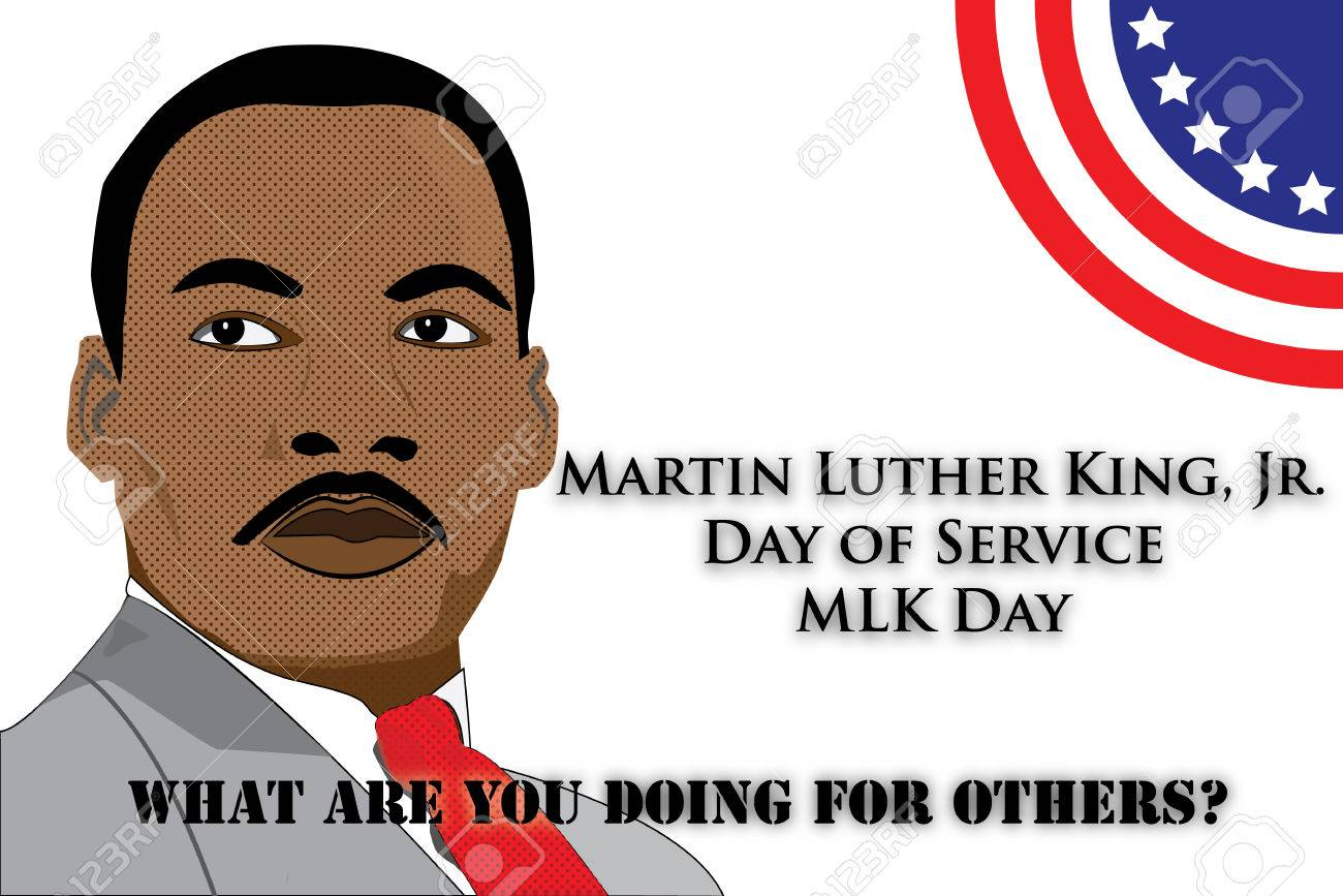 Illustration For The Martin Luther King Jr Day Of Service