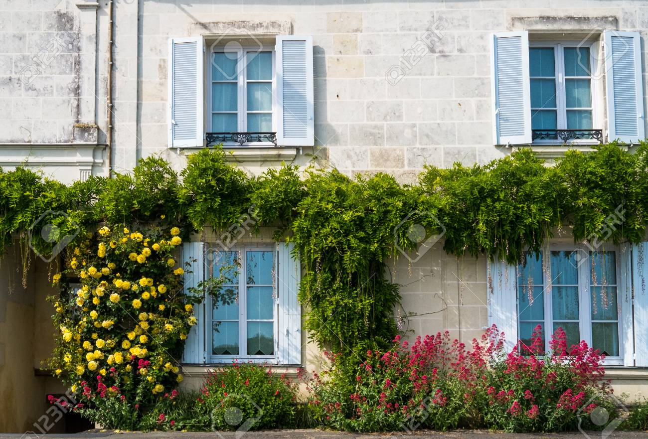 Typical French House In The Loire Region France Stock Photo